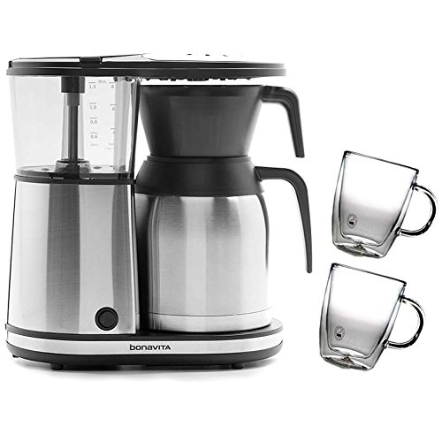 Coffee Maker With Glass Lined Carafe : Bonavita BV1900TS 8 Cup Coffee Maker With Shatterproof Steel Lined Thermal Carafe & Bodum Bistro ...