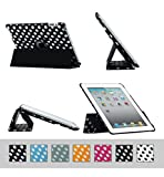 51xj7Hpbo4L. SL160  BTM Tri Fold Polka Dot Rotating 360 Cover for Apple iPad 4th Generation Retina Display Black