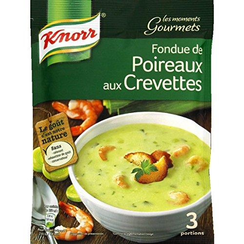 Knorr - Les Moments Gourmets - Fondue de poireaux aux crevettes et pointe de crème - Le sachet de 84g - (pour la quantité plus que 1 nous vous remboursons le port supplémentaire)