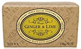 Naturally European Triple Milled Ginger & Lime Wrapped Soap Bar 230g