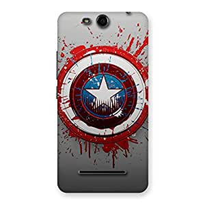 Stylish Blood Red Round Back Case Cover for Micromax Canvas Juice 3 Q392