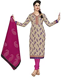 SP Marketplex Women's Cotton Unstitched Dress Materials (Spmsg332, Grey And Magenta)