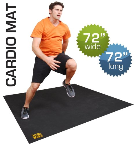 Large Exercise Mat. 72″ Wide X 72″ Long, Durable Rubber