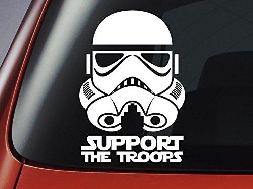 """Star Wars Stormtrooper-Imperial 'Support il Troops', in vinile, motivo: auto, finestre, da parete """", per Laptop"""