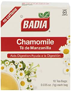 Badia Tea Chamomile Tea Bags, 10-Count (Pack of 20)