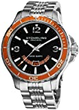 Stuhrling Original Mens 270B.331117 Pioneer Swiss Quartz Date Orange Bezel Watch