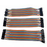 120pcs 20CM Multicolored 40pin Male to Female, 40pin Male to Male, 40pin Female to Female Breadboard Jumper Wires Ribbon Dupont Cables Kit