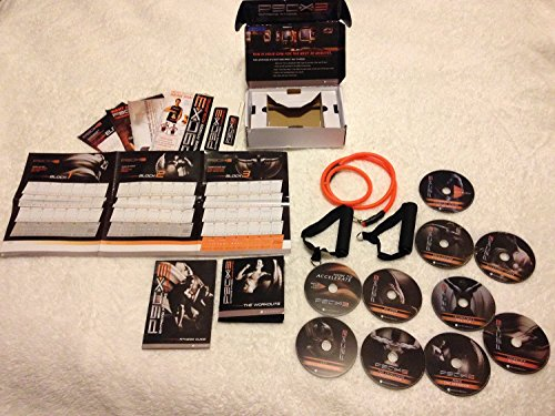TONY HARTON P90X3 10 DISC WORKOUT SYSTEM W/ RESISTANCE BAND FITNESS