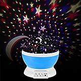 Amazon.co.jpLEPOWER 改良済のプロジェクターランプ プラネタリウム 星空仕様 最大3M投影 乾電池式/USBケーブルの2WAY対応(ブルー)