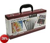 Royal & Langnickel RSET-WAT2010 - Set di pennelli in valigetta di legno per acquerelli