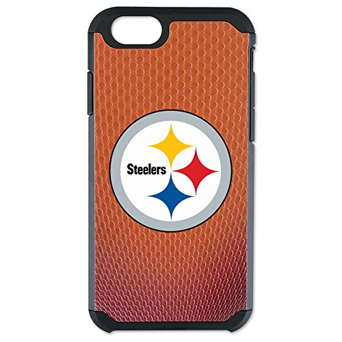 NFL Pittsburgh Steelers Classic Football Pebble Grain Feel No Wordmark iPhone 6 Case, Brown from Game Wear, Inc.