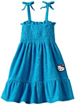 Hello Kitty Girls 2-6X Terry Sundress, Blue, 5/6