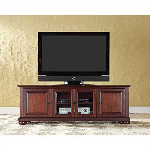 Crosley Furniture Alexandria 60-Inch Low Profile TV Stand, Vintage Mahogany
