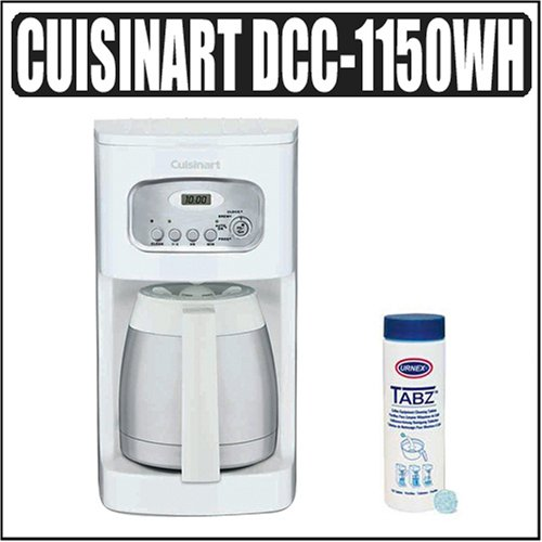 Cuisinart DCC-1150WH 10-cup Coffee Maker Outfit Reviews www.cafibo.com