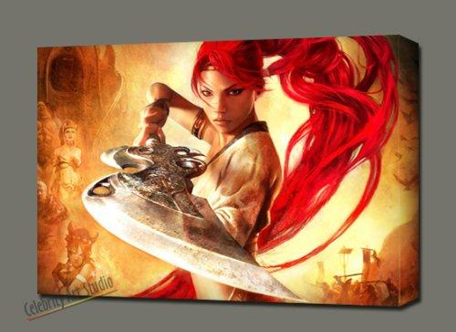 PS3 HEAVENLY SWORD GALLERY WRAP STYLE ARTWORK 28X20