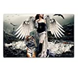 img - for Angels Woman Wings Dark Tigers Fantasy Table Mats Customized Made to Order Support Ready 28 6/16 Inch (720mm) X 17 11/16 Inch (450mm) X 1/8 Inch (4mm) High Quality Eco Friendly Cloth with Neoprene Rubber MSD Deskmat Desktop Mousepad Laptop Mousepads Comfortable Computer Place Play Mat Cute Gaming Mouse pads book / textbook / text book
