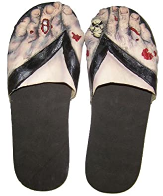 Zombie Feet Costume Sandals Adult Select Size: Large