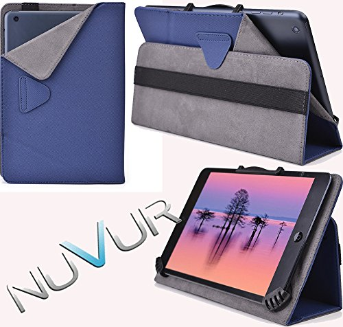 Ajustable Stand Case Cover Allview Viva Q7 Life  Dark Blue  Nuvur ™  Mu08Egbd 