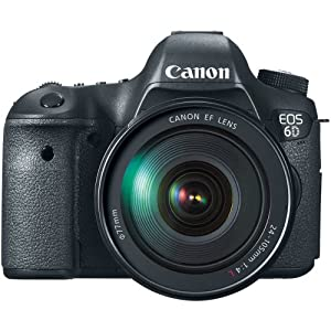 Canon EOS 6D 20.2 MP CMOS Digital SLR Camera with 3.0-Inch LCD and EF24-105mm IS Lens... by Canon