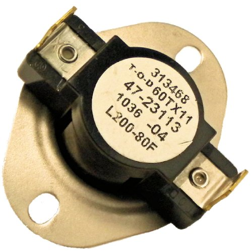 Limit Switch L200-80F 200 Degree Onetrip Parts® Replaces Rheem Ruud Weatherking 47-23113-04 front-577159