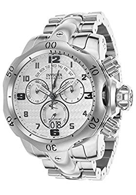 Invicta 17629 Men's Venom Reserve Chronograph Stainless Steel Silver-Tone Dial