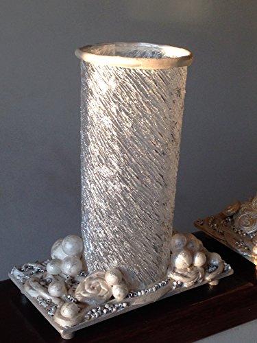 porta-velas-blanco-y-plateado-hecho-a-mano-obra-original