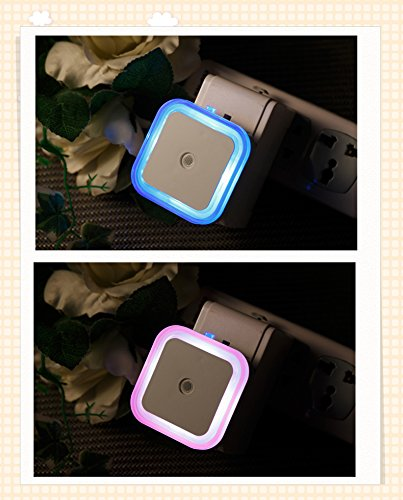 How Nice Led Night Light Electric Induction Plug Children/Baby Incandescent Lamp Night Bedside Lamp Christmas Colorful Lamp Round Favorites Compare Baby Night Light Kids Sensor Wall Small Night Light For Baby Night Christmas Gift Decorate Party (Square, R