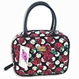 Betsey Johnson Weekender Cosmetic Make Up Bag Purse Handbag (Rose Floral)