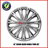 "SEAT IBIZA 08-ON 13"" SPARK SILVER WHEEL TRIM HUB CA"