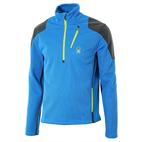 Spyder Men'S Invert 3L Half Zip Jacket, Electric Blue/Osetra/Acid, 3X-Large