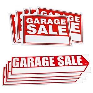 amazon com 10pc garage sale yard sign kit get your sale noticed drive buyers to your door