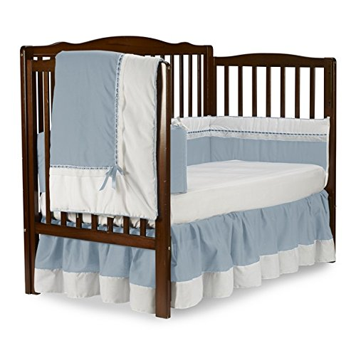 Baby Doll Royal Crib Bedding Set, Blue - 1