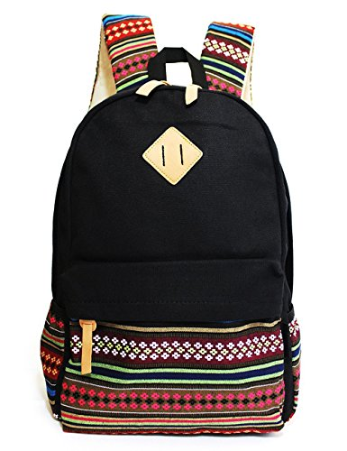 Review Of IBSound Casual Style Lightweight Canvas Laptop Backpack - Fashion Cute Travel School Colle...