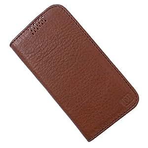 Dooda Genuine Leather Flip Case For Micromax Canvas Lite A92 (TAN BROWN)