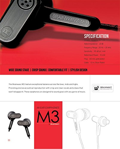 Brainwavz M3 In the Ear Stereo Headphones