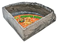 Zoo Med Reptile Rock Corner Water Dish, Large – Assorted colors