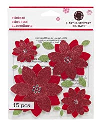 Martha Stewart Crafts Large Poinsettia Stickers