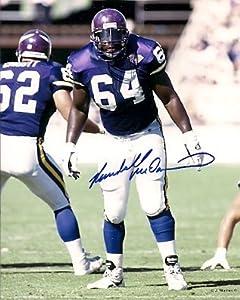 Autographed Randall Mcdaniel Photo - Minnesota Vikings by Main Line Autographs