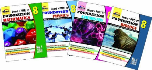 Boards + PMT/IIT Foundation Class 8 (Science + Maths) - Set of 4 Books (Old Edition)