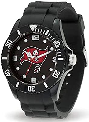 Tampa Bay Buccaneers Bucs Spirit Watch Team Color Logo Black Band NFL Football