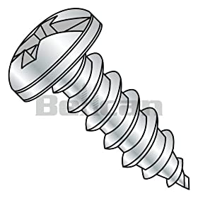 Bellcan BC-1210ACP Combination Pan Head Self Tapping Screw Type A Fully Threaded Zinc 12 X 5/8 (Box of 4000)