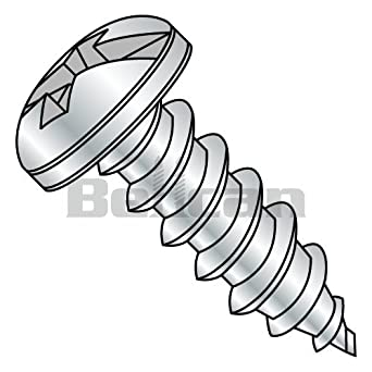 Bellcan BC-1008ACP Combination Pan Head Self Tapping Screw Type A Fully Threaded Zinc 10 X 1/2 (Box of 8000)