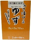 ニットーリレー あさ漬けの素 ゆず 6g×3袋×10個