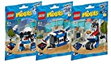 Lego, Mixels Series 7 Bundle MCPD set, KUFFS (41554), BUSTO (41555), TIKETZ (41556) Combine to Build MCPD MAX!