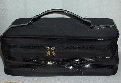 Lancome Black Train Case Makeup Bag
