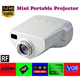 Gadget Hero's UC33+ Mini HD Multimedia LED Projector. White