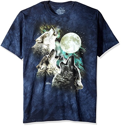 Animal T-Shirts Wolf Moon In Blue T-Shirt, Medium