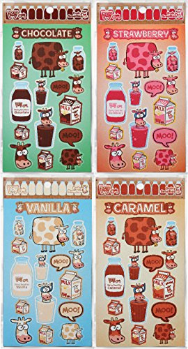 Dairy SmelliesTM Bundle - Strawberry, Chocolate, Vanilla, Caramel