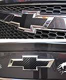 Car Styling Carbon Fiber Logo Mark Front & Rear Emblem Sticker for Chevrolet Chevy Cruze 2pcs set 2011 2012