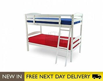 Metal Beds Ltd 3ft Bunk Bed White Wooden - Moderna bunk